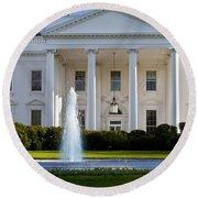 The White House Round Beach Towel