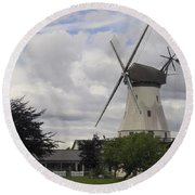 The White Windmill Round Beach Towel