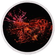 The Will O The Wisps Round Beach Towel