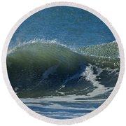 The Windblown Wave Round Beach Towel