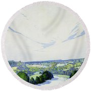 The Winding Road Round Beach Towel