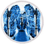 The Wings Of Fallen Angels Round Beach Towel