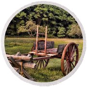 The Wooden Cart Round Beach Towel
