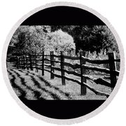 The Wooden Fence Round Beach Towel