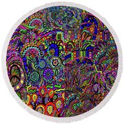 The World Largest Migraine Artwork Round Beach Towel