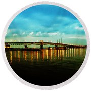 The York River Round Beach Towel by Bill Cannon