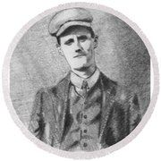 The Young James Joyce Round Beach Towel