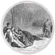 Theater: Duel, 1860 Round Beach Towel