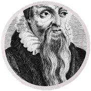 Theodore De B�ze (1519-1605) Round Beach Towel