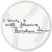 Theodore Dreiser (1871-1945) Round Beach Towel