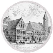 Theological Seminary, 1884 Round Beach Towel