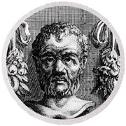 Theophrastus, Ancient Greek Polymath Round Beach Towel