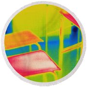 Thermal Shadow Round Beach Towel