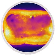 Thermogram Of A Hot Toast Round Beach Towel
