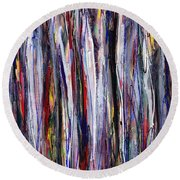 Thicket In Ice Round Beach Towel