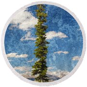 Thin Air Round Beach Towel