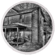 This Old House Round Beach Towel by Todd Hostetter