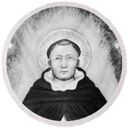 Thomas Aquinas, Italian Philosopher Round Beach Towel