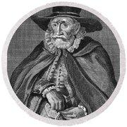 Thomas Hobson (1544-1631) Round Beach Towel