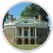 Thomas Jeffersons Poplar Forest Round Beach Towel