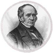 Thomas O. Larkin (1802-1858). American Merchant And California Pioneer. Wood Engraving, 19th Century Round Beach Towel