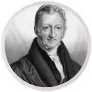 Thomas Robert Malthus Round Beach Towel