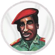 Thomas Sankara Round Beach Towel