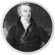Thomas Young, English Polymath Round Beach Towel by Photo Researchers