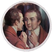 Thomas Young, English Polymath Round Beach Towel by Science Source