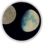 Three Moon Round Beach Towel