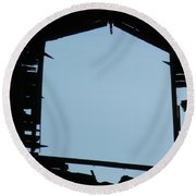 Through The Door Round Beach Towel