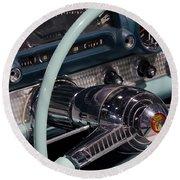 Thunderbird Steering Wheel Round Beach Towel