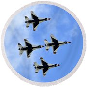 Thunderbirds In Flight Round Beach Towel