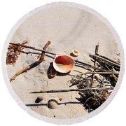 Tidal Treasures Round Beach Towel