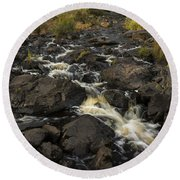 Tidga Creek Falls 3 Round Beach Towel