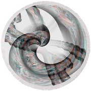 Tied The Knot Round Beach Towel