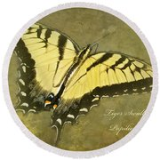 Tiger Swallowtail Butterfly - Papilio Glaucas Round Beach Towel