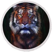 Tiger Tiger Round Beach Towel