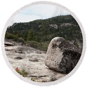 Tilted Rock Round Beach Towel
