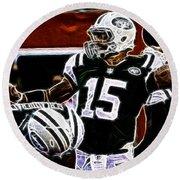 Tim Tebow  -  Ny Jets Quarterback Round Beach Towel