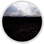 Timanfaya Ground Round Beach Towel