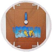 Time Piece Round Beach Towel