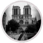 Timeless Notre Dame Round Beach Towel