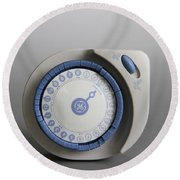 Timer Round Beach Towel