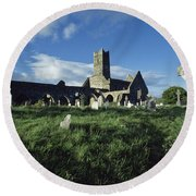 Timoleague Abbey, Co Cork, Ireland 13th Round Beach Towel