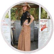 Tina Loy 580 Round Beach Towel