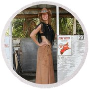 Tina Loy 614 Round Beach Towel