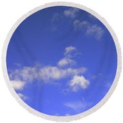 Tiny Tree Silhouette Round Beach Towel