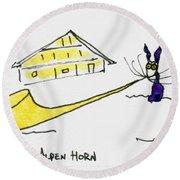 Tis Alpenhorn Round Beach Towel