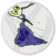 Tis Wind Tunnel Round Beach Towel